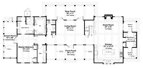 floor plan for 3000 sq ft house beach style house plan 4 beds 4 5 baths 3000 sq ft plan 443 19