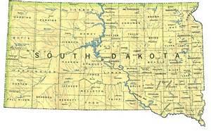 Usa Map South Dakota by Map Of South Dakota By Phonebook Of South Dakota Com