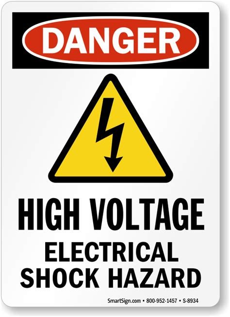 high voltage safety high voltage electrical shock hazard with symbol sign