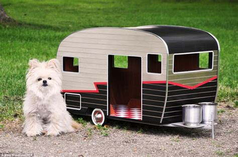 small house dogs pet cer a tiny house shaped like a trailer with custom license plates
