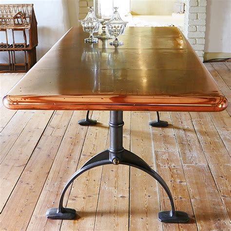 custom designed copper dining table for sale at 1stdibs copper top table zinc table dining table andrew