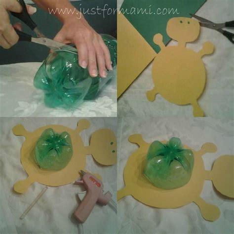 maquetas de tortugas con botella manualidad tortuga reciclaje 5 preescolar pinterest