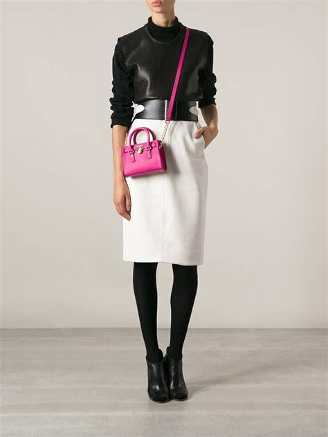 Mini Ion Massenger Refleksasi Pink michael michael kors mini hamilton messenger bag in pink pink car interior design