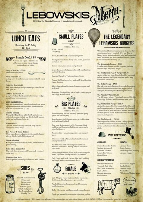 design menu vintage retro menu design www pixshark com images galleries