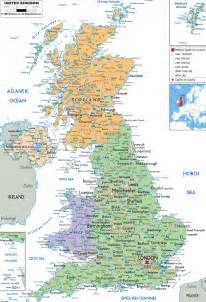 Detailed Map Of England by Large Detailed Political And Administrative Map Of United