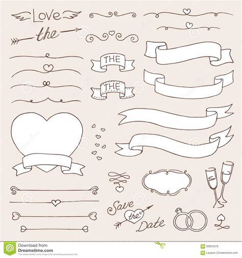 vintage design elements vector set 23 vector wedding vintage set of design elements black and
