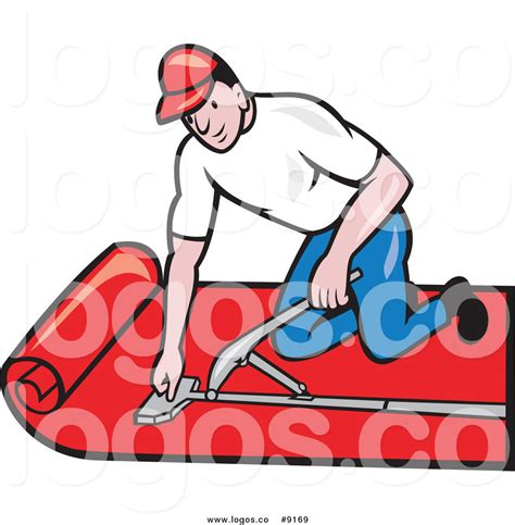 Carpet Fitter Jobs by Royalty Free Clip Art Vector White Male Carpet Layer