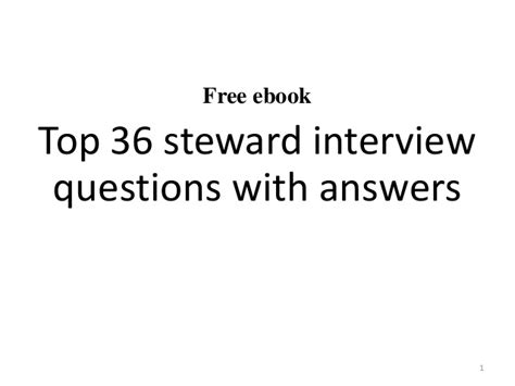 top 10 steward questions with answers
