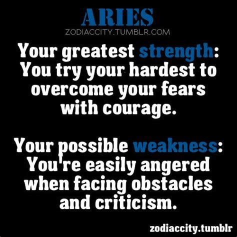aries strength and weakness all aries all the time