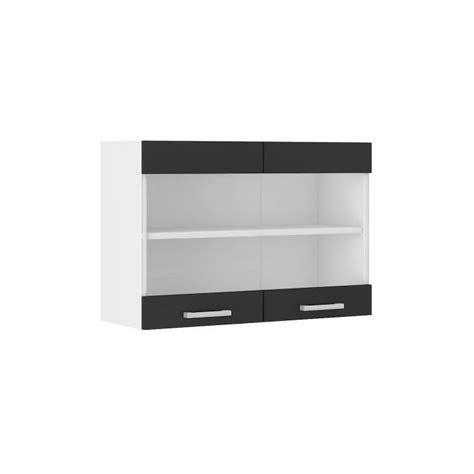 meuble haut cuisine 80 cm ultra meuble haut de cuisine l 80 cm noir achat