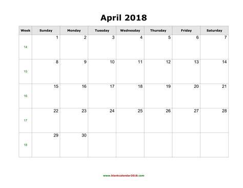 printable calendar 2018 pdf april 2018 calendar pdf calendar printable free