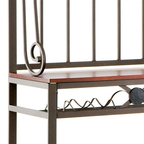 Decorate Bakers Rack Sei Decorative Metal Baker S Rack With 6