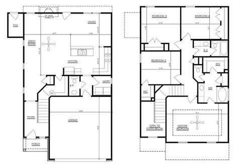 2 house plans with 4 bedrooms family house plans 4 bedrooms home deco plans