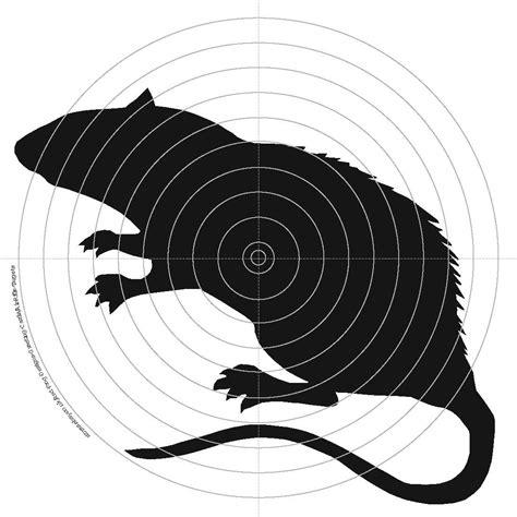 printable rat targets 100 x 14cm air rifle shooting targets rat rabbit raven