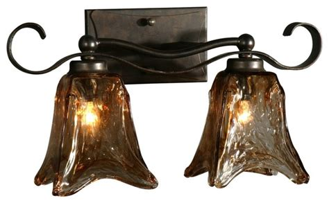 rustic bathroom lighting fixtures uttermost vetraio collection 17 quot wide bathroom light