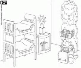 Bedroom Of The Playmobil Toys Coloring Page sketch template