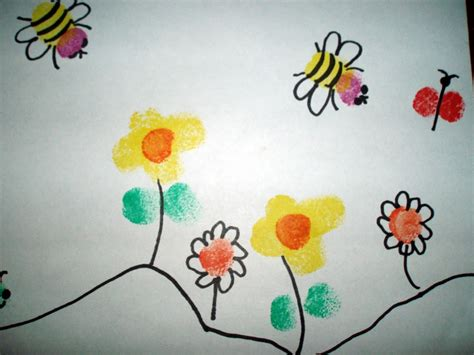 painted projects fingerprint painting projects for kids instructions for