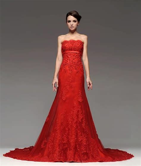 17 Best ideas about Red Wedding Dresses on Pinterest