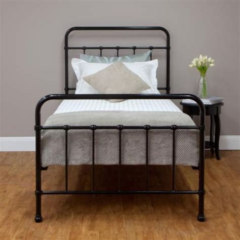 vintage style metal bed frame new sturdy black single steel frame bed hospital style