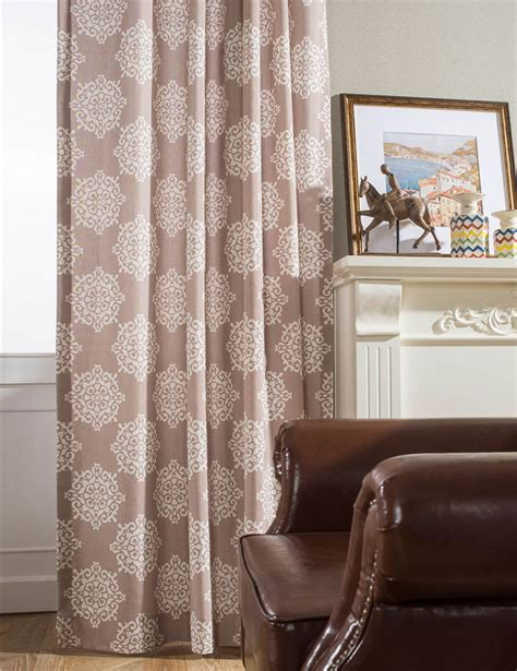 Curtains For Brown Living Room by Brown Vintage Curtains Grommet Top Drapes Living Room