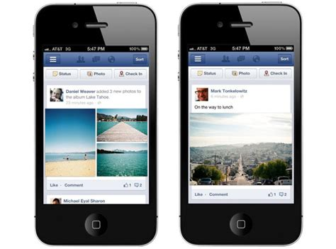 facebook themes facebook style gallery app facebook revs its mobile site ios and android apps