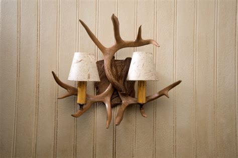 rustic wall l antler sconce log cabin decor sconces ebay