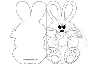 easter template easter bunny card coloring page easter template