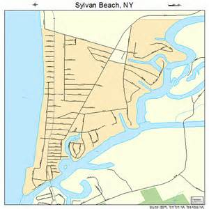 Map Of New York Beaches by Sylvan Beach New York Street Map 3672521