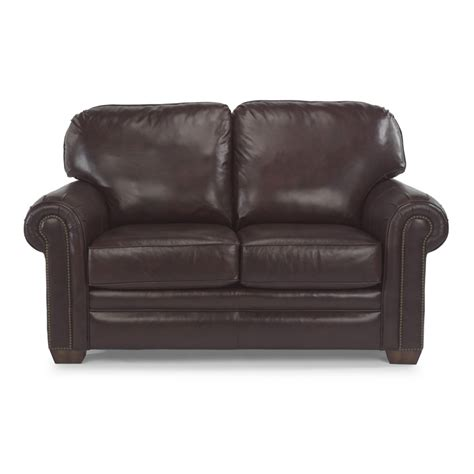 Harrison Leather Recliner by Flexsteel 3270 20 Harrison Leather Loveseat With Nailhead Trim Discount Furniture At Hickory