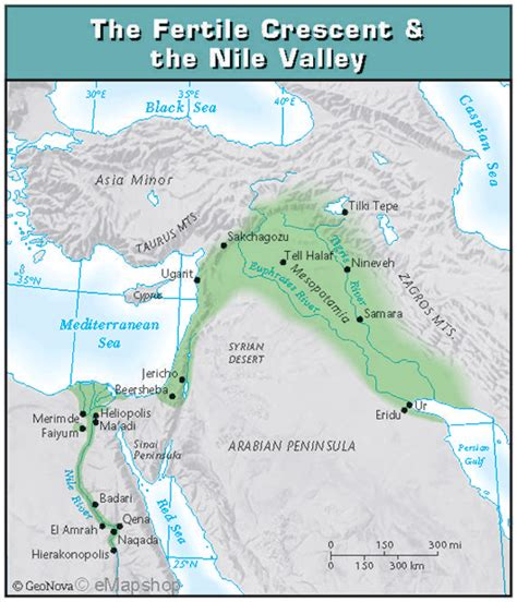 fertile crescent map 1a