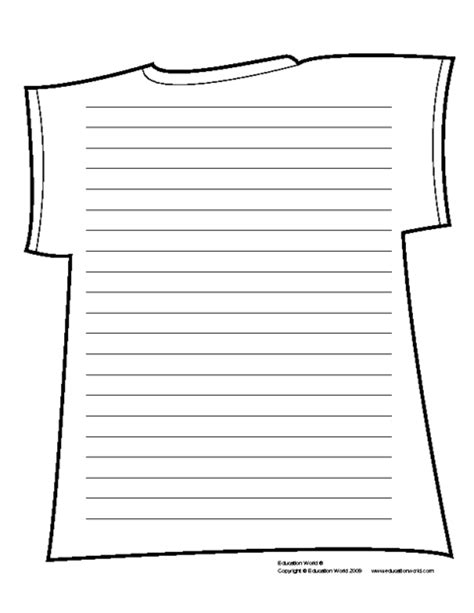 sign writing templates education world t shirt shapebook lined template pdf