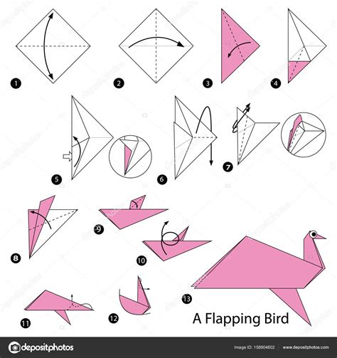 Origami Flapping Bird Step By Step - how to make a bird origami gallery craft decoration ideas