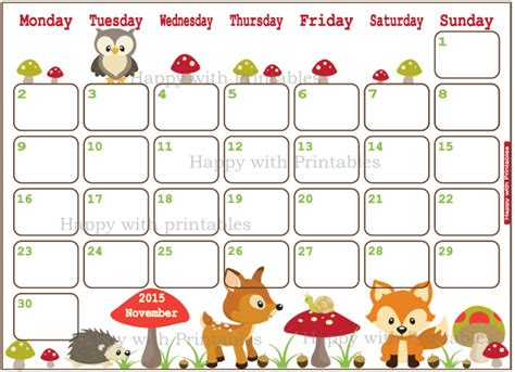 Calendar When Is Thanksgiving Calendar November 2015 Calendar Thanksgiving