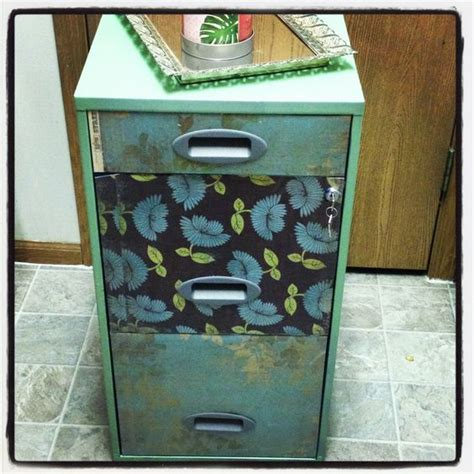 contact paper cabinet makeover my creations pinterest my filing cabinet got makeover super easy spray paint