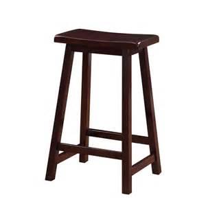linon home decor saddle 24 in dark brown bar stool linon home decor 30in monroe bar stool boscov s