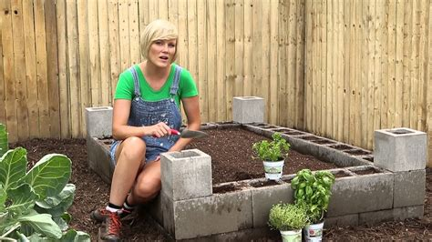 cement block raised bed burpee garden projects youtube