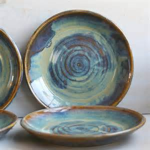ceramic dinnerware dishes rustic earthy glaze by sheilasart