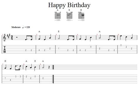 happy birthday song chords moving the boxes