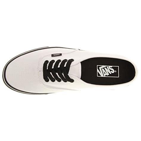 Sepatu Skate Vans Authentic Blacksole vans unisex authentic black sole true white skate shoe 8 5 us 10 us buy