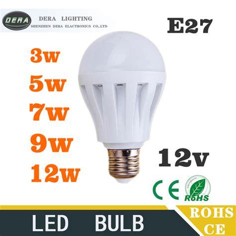12 volt led len 10piece led bulbs 3w5w7w9w12w led light bulb dc 12v e27 12