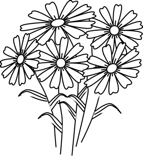 clipart of flowers coloring pages coloring book flowers clip at clker vector clip