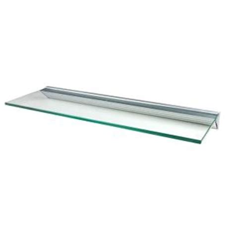 wallscapes glacier clear glass shelf with silver bracket