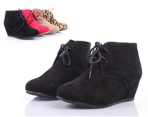 Heels Black Wedges Black El Verne black lace up wedge high heels ankle boots