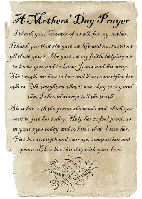 s day prayer prayers for mothers and s day