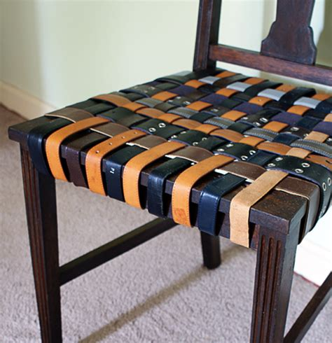woven leather chair diy make a woven belt seat