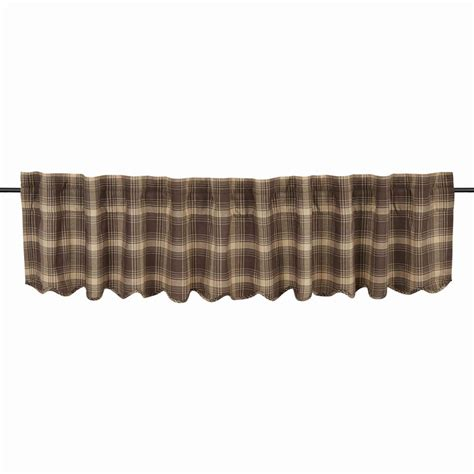 plaid valance curtains dawson plaid star valance www bestwindowtreatments com