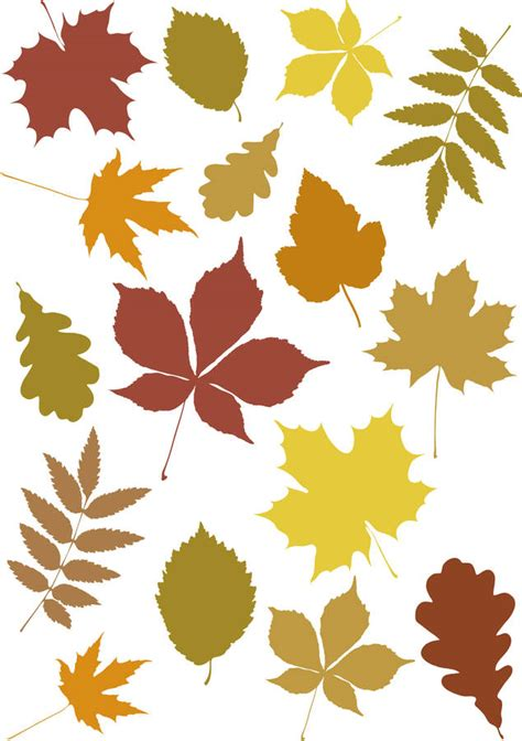 mini autumn leaves wall stickers by leonora hammond