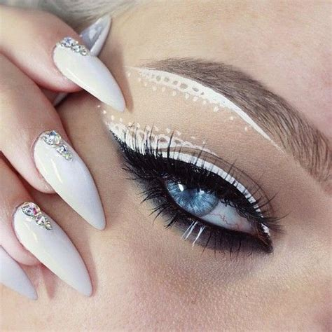 Davis White Eyeliner N Nail prom inspiration camillelavie eye nail manicure manicure and makeup