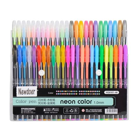 what colored pencils are best for coloring books newdoer 48 packs color gel ink pens the best gel pens set