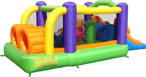 Murah Obstacle Course Bouncer Happy Hop 9063 obstacle course bouncy castle with slide
